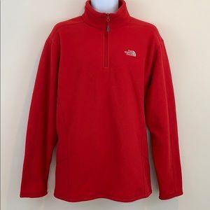 The North Face Half Zip Red Sweatshirt   Size XL